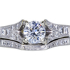 0.91 ct. Round Cut Bridal Set Ring, D, SI1 #3