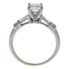 0.85 ct. Princess Cut Bridal Set Ring, F, SI1 #3