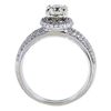 1.01 ct. Round Cut Halo Ring, J, SI2 #2