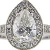 1.65 ct. Pear Cut Bridal Set Ring, H-I, I1 #1