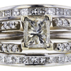 1.01 ct. Princess Cut Bridal Set Ring, M, I2 #2