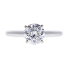1.1 ct. Round Cut Solitaire Ring, F, I1 #3