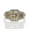 2.03 ct. Radiant Cut 3 Stone Ring #4