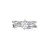 0.91 ct. Round Cut Bridal Set Ring, G, I1 #3