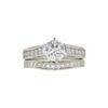 1.0 ct. Round Cut Bridal Set Ring, J, SI1 #3