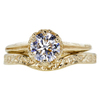 0.78 ct. Round Cut Bridal Set Ring, D, SI1 #2