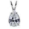 1.51 ct. Pear Cut Pendant Necklace #4