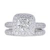 0.8 ct. Cushion Cut Bridal Set Ring, H, VS2 #3