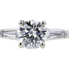1.05 ct. Round Cut 3 Stone Ring #4