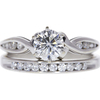 1.02 ct. Round Cut Bridal Set Ring, H, I2 #3