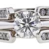0.6 ct. Round Cut Bridal Set Ring, H-I, SI1 #1