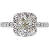 1.6 ct. Cushion Cut Halo Ring, J, SI2 #2