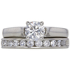 0.72 ct. Round Modified Brilliant Cut Bridal Set Ring, G, VS2 #3