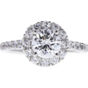1.03 ct. Round Cut Halo Ring, E, SI1 #3