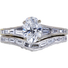 0.94 ct. Oval Cut Bridal Set Ring, D, SI1 #3