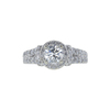 0.90 ct. Round Cut Halo Ring, G, I1 #3