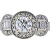 0.90 ct. Round Cut 3 Stone Ring, H, I1 #4