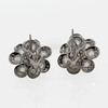Round Cut Blossom Cluster Earrings #2