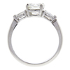 1.15 ct. Round Cut 3 Stone Ring, I, SI2 #4