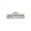 1.0 ct. Round Cut Bridal Set Ring, L, VS1 #3