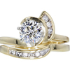 0.96 ct. Round Cut Bridal Set Ring #3