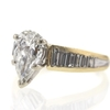 1.20 ct. Pear Cut Central Cluster Ring #3