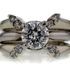 .96 ct. Round Cut Bridal Set Ring #1