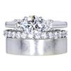 .90 ct. Round Cut Bridal Set Ring, F, VS2 #3