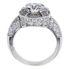 1.15 ct. Round Cut Halo Ring, H, I1 #2