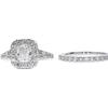 1.01 ct. Cushion Cut Bridal Set Ring, I, VS1 #3