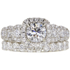 0.73 ct. Round Cut Bridal Set Ring, E, SI2 #3