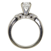 0.99 ct. Round Cut Bridal Set Ring, I, VS2 #4