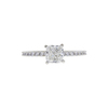 0.96 ct. Cushion Cut Solitaire Ring, H, SI1 #3