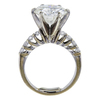 6.24 ct. Round Cut Bridal Set Ring, J, SI2 #2