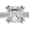 1.01 ct. Asscher Cut Bridal Set Ring, I, VS1 #4