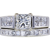 1.09 ct. Princess Cut Bridal Set Ring, H, SI1 #4
