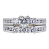 0.52 ct. Round Cut Bridal Set Ring, G, SI1 #4