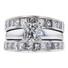 1.06 ct. Princess Cut Bridal Set Ring, I, SI1 #3