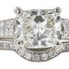1.5 ct. Cushion Modified Cut Bridal Set Ring, J, SI2 #4