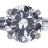 0.92 ct. Round Cut 3 Stone Ring, D, VVS2 #4