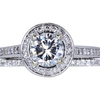 1.01 ct. Round Cut Halo Ring, H, VS1 #3