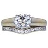 1.00 ct. Round Cut Bridal Set Ring, G, VS1 #3