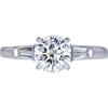 1.17 ct. Round Cut 3 Stone Tiffany & Co. Ring, H, VVS2 #1