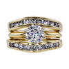 1.19 ct. Round Cut Bridal Set Ring, G, I1 #1