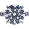1.26 ct. Round Cut Bridal Set Ring, G, SI1 #4