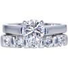 1.02 ct. Round Cut Bridal Set Ring, G, SI2 #3