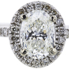 2.00 ct. Oval Cut Halo Ring, I, VS2 #4