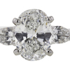 1.49 ct. Oval Cut 3 Stone Ring, D, SI1 #4