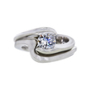 0.71 ct. Round Cut Bridal Set Ring, F-G, SI1 #2