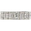 Antique Platinum 10 ct Diamond Link Bracelet Engraved Cartier Made In France #1